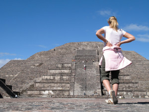 Pyramid of the Moon in Teotihuacán.