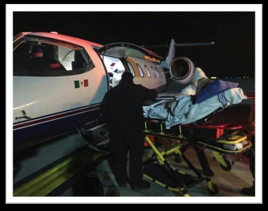 Air evacuation Broken hip Cuna de Allende Ground ambulance Mexico New York Queretaro San Miguel Sarah Ash Teterboro Airport